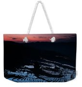 Rice Terrace After Sunset Weekender Tote Bag