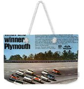 Ride With The Winner... Plymouth Weekender Tote Bag