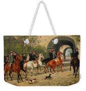Riders At Uppsala Castle Weekender Tote Bag