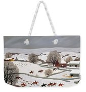 Riding In The Snow Weekender Tote Bag