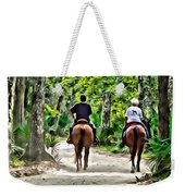 Riding In The Woods Weekender Tote Bag