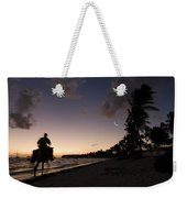Riding On The Beach Weekender Tote Bag by Adam Romanowicz