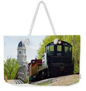 Riding The Train Weekender Tote Bag