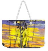 Rigging In The Sunset Weekender Tote Bag