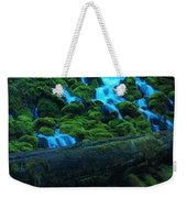 Right Side Of Clearwater Falls Weekender Tote Bag