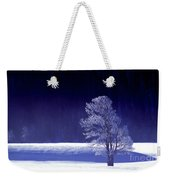 Rime Ice Covered Tree Yellowstone National Park Wyoming Weekender Tote Bag