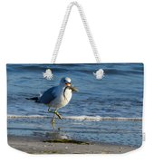 Ring-billed Gull With Its Catch Weekender Tote Bag