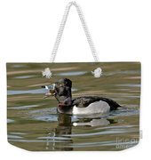 Ring-necked Duck Swallowing Snail Weekender Tote Bag
