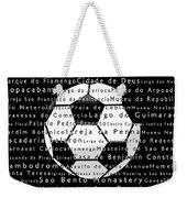 Rio De Janeiro In Words Black Soccer Weekender Tote Bag