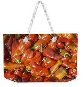 Ripe Red Peppers Weekender Tote Bag