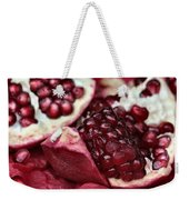 Ripe Red Pomegranate Close Up Weekender Tote Bag