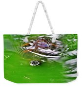 Rippled Green Weekender Tote Bag