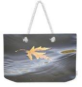 Rippled Maple Leaf Weekender Tote Bag