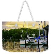 Ripples At Sunset Weekender Tote Bag by Brian Wallace