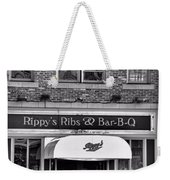Rippy's Ribs And Bar Bq Weekender Tote Bag by Dan Sproul