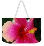 Rise And Shine - Hibiscus Face Weekender Tote Bag by Connie Fox