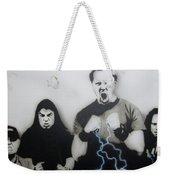 Rising Metallic Storm Weekender Tote Bag