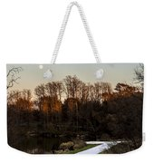 Rising Moon Fishing Weekender Tote Bag