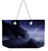 Rising Moon Over Ocean And Mountains Weekender Tote Bag by Evgeny Kuklev