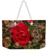 Risk To Blossom Weekender Tote Bag