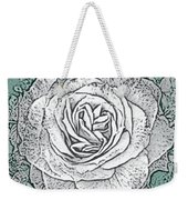 Ritzy Rose With Ink And Green Background Weekender Tote Bag