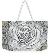 Ritzy Rose With Ink And Taupe Background Weekender Tote Bag