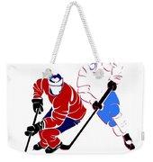 Rivalries Canadiens And Nordiques Weekender Tote Bag