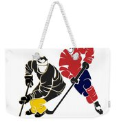 Rivalries Penguins And Capitals Weekender Tote Bag