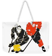 Rivalries Penguins And Flyers Weekender Tote Bag