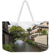 River And Houses In Kyoto Japan Weekender Tote Bag