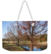 River And Winter Trees Weekender Tote Bag