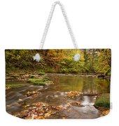 River Blyth In Autumn Vertical Weekender Tote Bag