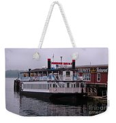 River Boat At Dock Weekender Tote Bag