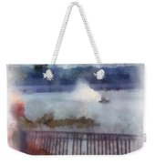River Boat Speed Racing Vertical Photo Art Weekender Tote Bag