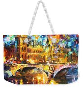 River City - Palette Knife Oil Painting On Canvas By Leonid Afremov Weekender Tote Bag