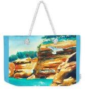 River Cliffs 2 Weekender Tote Bag