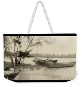 River Fishing Boats In Hoi An Weekender Tote Bag