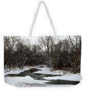 River Freeze Weekender Tote Bag