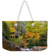 River House In The Fall Weekender Tote Bag