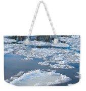 River Ice Weekender Tote Bag