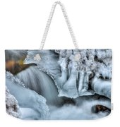 River Ice Weekender Tote Bag by Chad Dutson