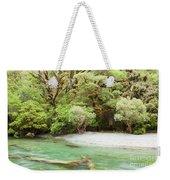 River In Rainforest Wilderness Of Fiordland Np Nz Weekender Tote Bag
