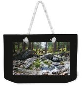 A River Scene In Wicklow, Ireland Weekender Tote Bag