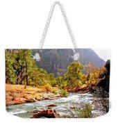 River In Zion National Park Weekender Tote Bag