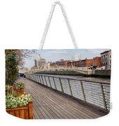 River Liffey Boardwalk In Dublin Weekender Tote Bag