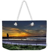 River Mouth At Sunset Weekender Tote Bag