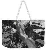 1m3646-bw-river Of Ice On Snowbird Glacier Weekender Tote Bag