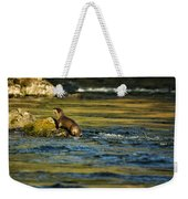 River Otter On A Rock Weekender Tote Bag
