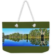 River Panorama And Reflections Weekender Tote Bag by Kaye Menner