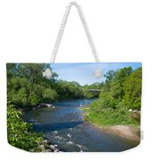 River Passing Through A Forest, Beaver Weekender Tote Bag